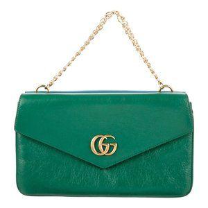 Gucci Thiara Double Envelope Shoulder Bag in Green